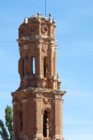 spanish civil war: Tower in Belchite, Belchite village was destroyed in a bombing during the Spanish Civil War, Saragossa, Aragon, Spain