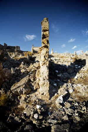 spanish civil war: Roden village destroyed in a bombing during the Spanish Civil War, Saragossa, Aragon, Spain Stock Photo