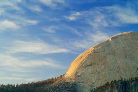 half dome: Half Dome in Yosemite National Park, California, United States. Stock Photo