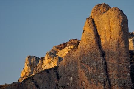 spires: Rock spires known as Mallos de Riglos, Huesca, Aragon, Spain