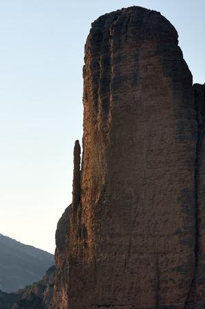 Puro e Pison colline in Riglos, Huesca, Spagna.