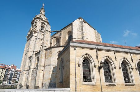 anton: view of the church of St. Anton in the old part of Bilbao, was built in the 15th century and is Gothic, Bilbao, Biscay, Basque Country, Spain