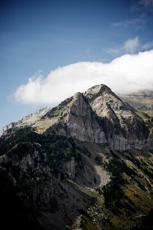aragon: Rioseta Mountains in Pyrenees, Canfranc Valley, Aragon, Huesca, Spain.