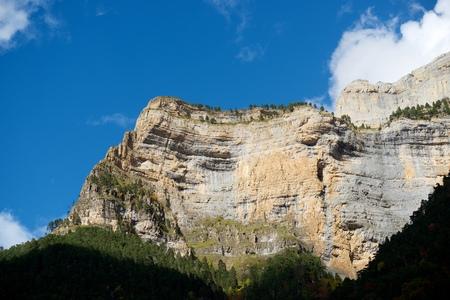ordesa: Libro Abierto Wall in the Pyrenees, Ordesa Valley National Park, Aragon, Huesca, Spain.