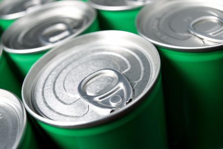 aluminium: Closeup of a group of aluminium cans.