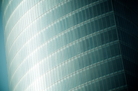 forefront: forefront of the glass facade of a skyscraper Stock Photo