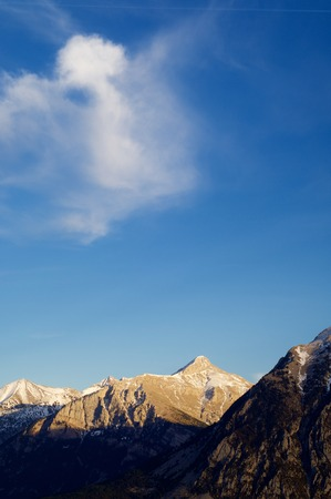 abrupt: Mountains in Pyrenees, Huesca, Aragon, Spain.