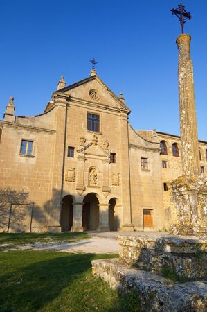 exterior view of the sanctuary Valentunana, Sos del Rey Catolico, zaragoza, Aragon, Spain. Imagens