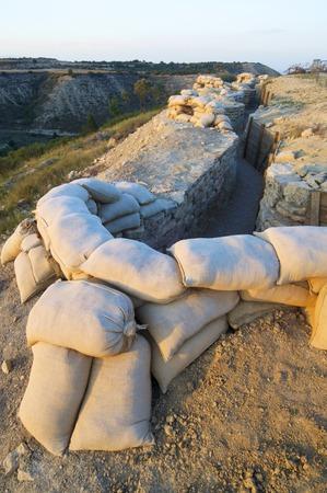 broken hill: Orwell  trench used in the Spanish civil war, Saragossa, Aragon, Spain.
