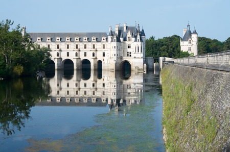 katherine: Chenonceau Castle, Loire Valley, France. Known as the castle of the ladies was built in 1513 by Katherine Briconnet, houses a collection of valuable paintings and striking good is one of the most visited in the Loire Valley.