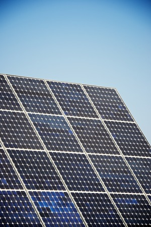 photovoltaic panel: Photovoltaic panel for renewable electric production, Navarra, Aragon, Spain.