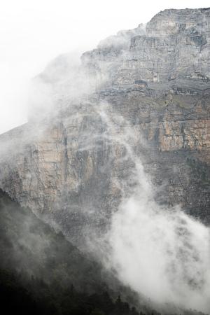 ordesa: Rocky wall in the Pyrenees, Ordesa Valley National Park, Aragon, Huesca, Spain.