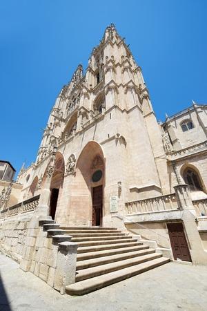 castilla leon: Exterior View of Burgos Cathedral, Burgos, Castilla Leon, Spain.
