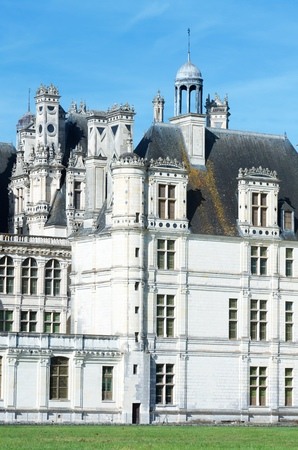 frequented: Chambord Castle, Loire Valley, France. Built as a hunting lodge for King Francois I, this castle is the largest and most frequented of the Loire Valley.