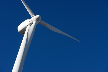 windfarms: Windmill for electric power production, Zaragoza Province, Aragon, Spain. Stock Photo