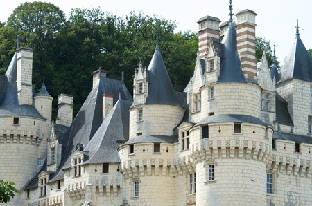 usse: Usse Castle in Loire Valley, Rigny-Usse, France. Known as the Sleeping Beauty Castle and built in the eleventh century is now a Historical Monument of France. Editorial