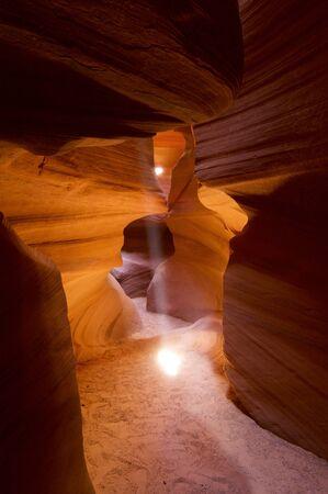 canyon walls: abstraction created by sandstone walls of Antelope Canyon, USA