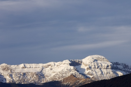 abrupt: Tendenera Mountains in Tena Valley, Pyrenees, Huesca, Aragon, Spain.