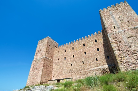 nacional: Siguenza Castle, of Arab origin was built in the 12th century is now Parador Nacional de Turismo, Guadalajara, Castilla La Mancha, Spain.