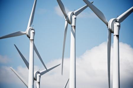 windmills for clean energy production renewable electric, Aras, Navarre, Spain