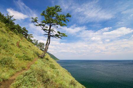 listvyanka: shore of Lake Baikal  near the town of listvyanka, Siberia, Russia