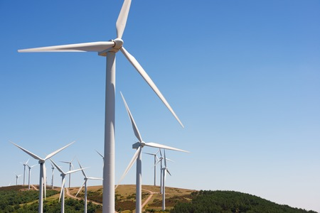electrical equipment: Windmills for electric power production, Burgos Province, Castilla Leon, Spain.