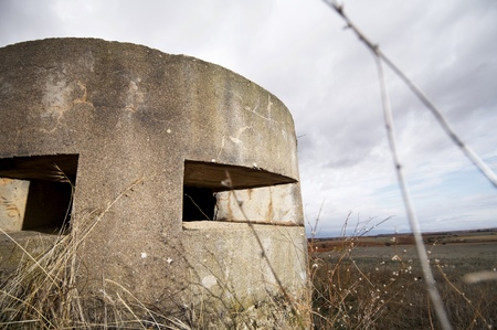 spanish civil war: bunker used in the Spanish civil war, Tosos, Saragossa, Aragon, Spain
