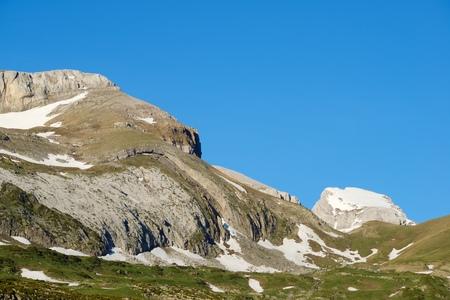 Peak in the Pyrenees, Aragues Valley, Aragon, Huesca, Spain.
