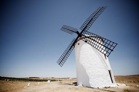 castilla la mancha: Windmill in Campo de Criptana, Ciudad Real Province, Castilla La Mancha, Spain. Stock Photo