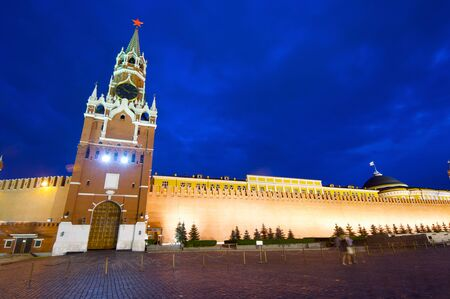 a nocturne: Kremlin night view, Moscow, Russia