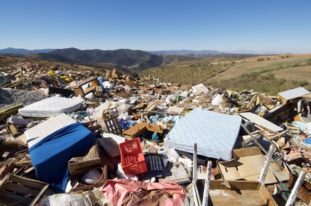 view of a landfill in a nature place
