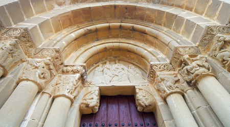 Santiago Church in Aguero, Huesca province, Aragon, Spain.