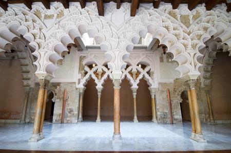 zaragoza: Taifal palace arches, Aljaferia Palace, Zaragoza, Aragon, Spain