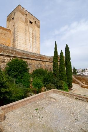 Donjon in the Alhambra, Granada, Andalucia, Spain