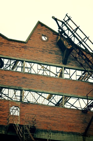 disuse: Ruins of an old industrial building into disuse.