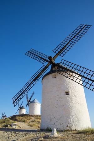 Windmills in Consuegra, Toledo Province, Castilla La Mancha, Spain.