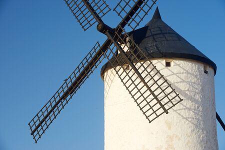 castilla la mancha: Windmill in Consuegra, Toledo Province, Castilla La Mancha, Spain. Stock Photo
