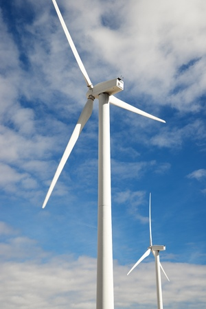 windturbines: Windmills for electric power production, Zaragoza Province, Aragon, Spain