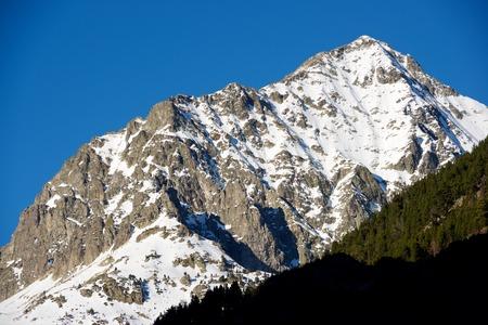 Palas Peak in Tena Valley, Aragon, Huesca, Spain. Stock Photo