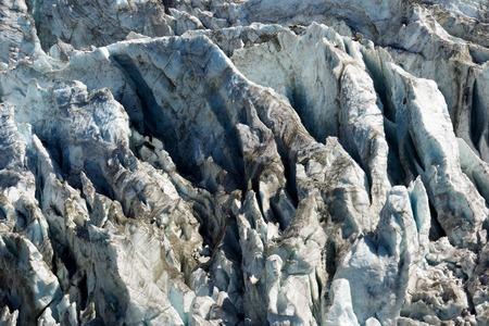 crack climbing: Argentiere Glacier view, Chamonix, Mont Blanc Massif, Alps, France Stock Photo
