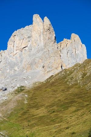 Aiguilles du Ansabere in Lescun Cirque. Aspe Valley, Pyrenees, France. Stock Photo