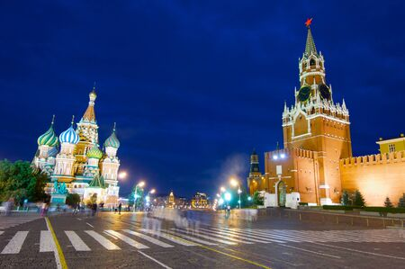 st  basil: Cathedral of St. Basil  and Kremlin in Red Square, Moscow, Russia