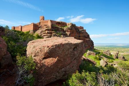 Peracense Castle, X-XI centuries, in Teruel province, Aragon, Spain Stock Photo