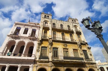 colonial building: colonial building in Havana, Cuba. Stock Photo