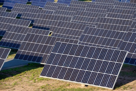 photocell: Photovoltaic panels for renewable electric production, Navarra, Aragon, Spain.