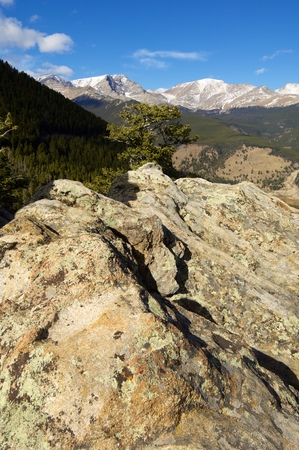 Landscape in Rocky Mountain National Park, Colorado, United States.