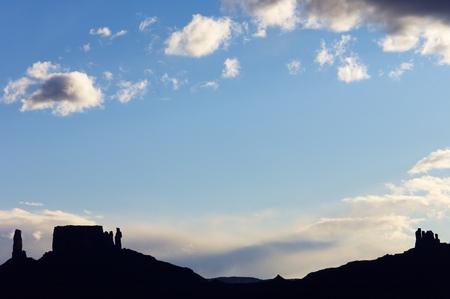 desert ecosystem: sandstone towers in the desert of Utah, Usa. Stock Photo