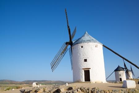 mancha: Windmills in Consuegra, Toledo Province, Castilla La Mancha, Spain.