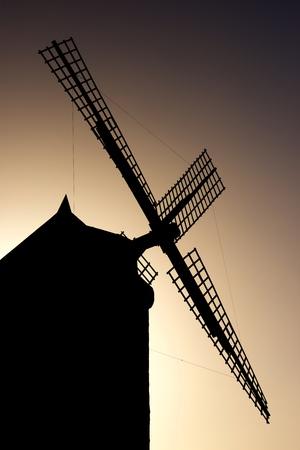 Windmill in Consuegra, Toledo Province, Castilla La Mancha, Spain. Stock Photo
