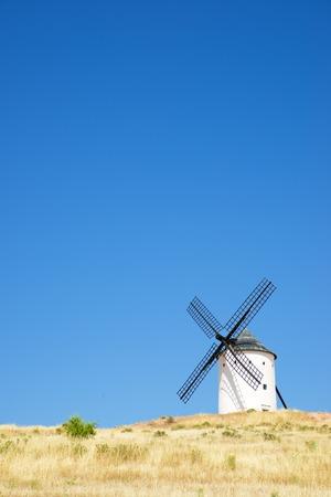 castilla la mancha: Windmills in Alcazar de San Juan, Ciudad Real Province, Castilla La Mancha, Spain.